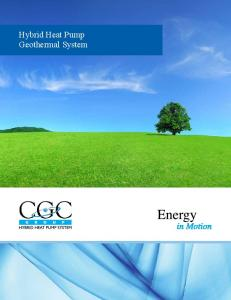 Hybrid Heat Pump Geothermal System