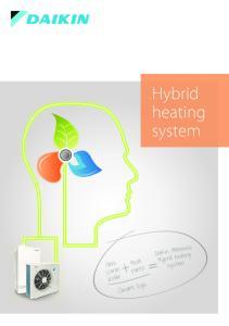 Hybrid heating. system. Heat pump. Gas combi boiler. Smart logic. Daikin Altherma. system