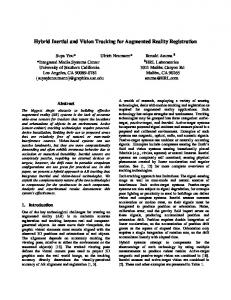 Hybrid Inertial and Vision Tracking for Augmented Reality Registration