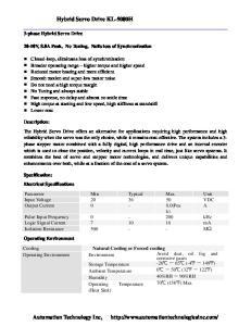 Hybrid Servo Drive KL-5080H