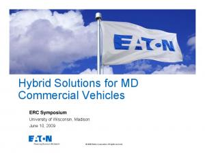 Hybrid Solutions for MD Commercial Vehicles