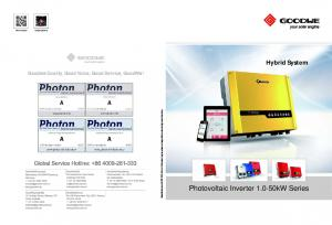 Hybrid System. Photovoltaic Inverter kW Series. Goodwe Quality, Good Value, Good Service, GoodWe! Official website