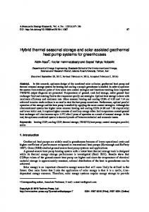 Hybrid thermal seasonal storage and solar assisted geothermal heat pump systems for greenhouses