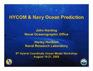 HYCOM & Navy Ocean Prediction
