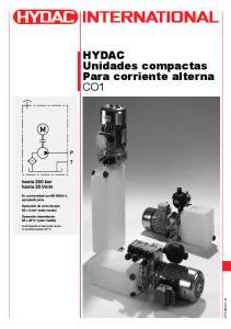 HYDAC Unidades compactas Para corriente alterna CO1