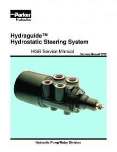 Hydraguide Hydrostatic Steering System