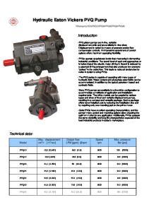 Hydraulic Eaton Vickers PVQ Pump