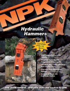 Hydraulic Hammers. Hydraulic Hammers