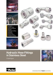 Hydraulic Hose Fittings in Stainless Steel. Catalogue