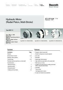 Hydraulic Motor (Radial Piston, Multi-Stroke)
