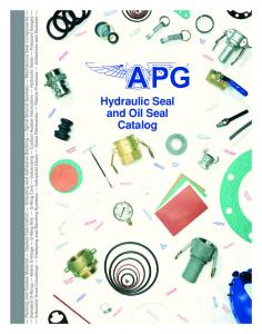 Hydraulic Seal and Oil Seal Catalog