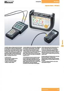 Hydraulic Testers PPC Series