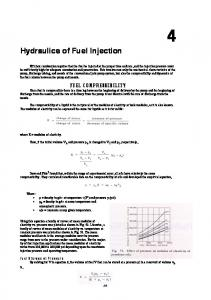 Hydraulics of Fuel Injection