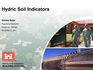 Hydric Soil Indicators