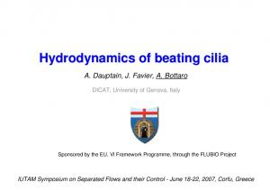 Hydrodynamics of beating cilia