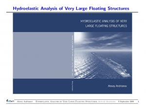 Hydroelastic Analysis of Very Large Floating Structures