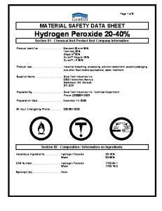 Hydrogen Peroxide 20-40%