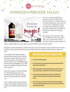 HYDROGEN PEROXIDE MAGIC!