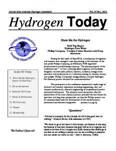 Hydrogen Today. Show Me the Hydrogen. Inside H2 Today. 1. Show Me the Hydrogen, Quotes for Bad Days. Quotations. We Deliver Clean Air