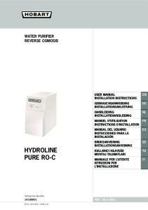 HYDROLINE PURE RO-C WATER PURIFIER REVERSE OSMOSIS