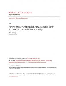 Hydrological variation along the Missouri River and its effect on the fish community