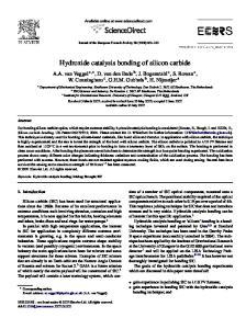 Hydroxide catalysis bonding of silicon carbide