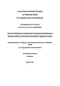 Hydroxyzin (Histacalmine ) und Dimetinden (Fenistil ) bei atopischen Hunden