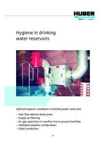 Hygiene in drinking water reservoirs