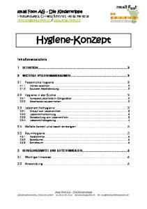 Hygiene-Konzept 1 DEFINITION WICHTIGE HYGIENEMASSNAHMEN... 2