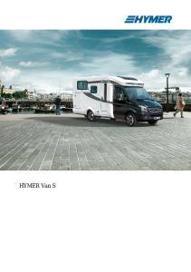 HYMER Van S. Highlights. Characteristics. Highlights