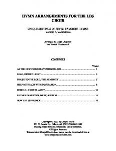 HYMN ARRANGEMENTS FOR THE LDS CHOIR