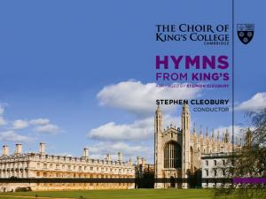 HYMNS FROM KING S STEPHEN CLEOBURY CONDUCTOR ARRANGED BY STEPHEN CLEOBURY