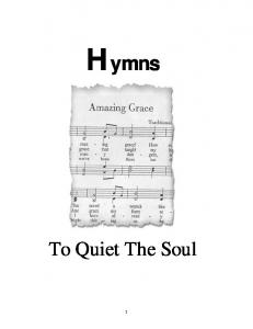 Hymns. To Quiet The Soul