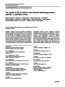 hyperactivity disorder: a systematic review