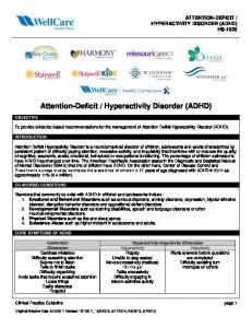 Hyperactivity Disorder (ADHD)
