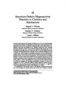Hyperactivity Disorder in Children and Adolescents