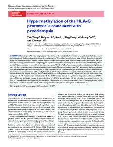 Hypermethylation of the HLA-G promoter is associated with preeclampsia