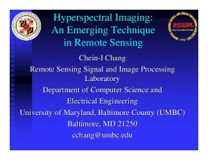 Hyperspectral Imaging: An Emerging Technique in Remote Sensing