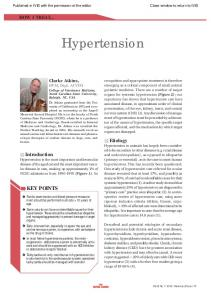 Hypertension KEY POINTS. Etiology. Introduction HOW I TREAT