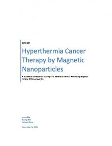 Hyperthermia Cancer Therapy by Magnetic Nanoparticles