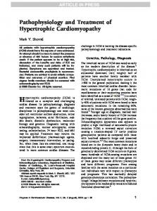Hypertrophic cardiomyopathy (HCM) is