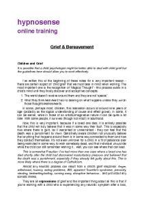 hypnosense online training Grief & Bereavement