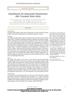 Hypothermia for Intracranial Hypertension after Traumatic Brain Injury