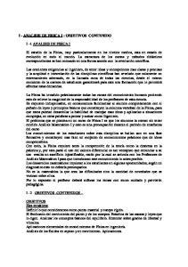 I - ANALISIS DE FISICA I : OBJETIVOS CONTENIDO I 1 ANALISIS DE FISICA I