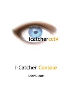 i-catcher Console User Guide