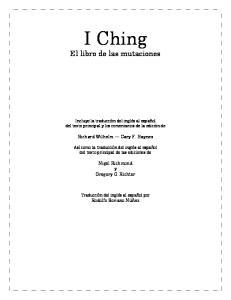 I Ching El libro de las mutaciones