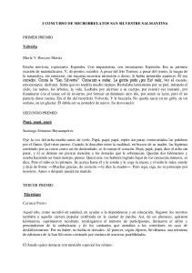 I CONCURSO DE MICRORRELATOS SAN SILVESTRE SALMANTINA