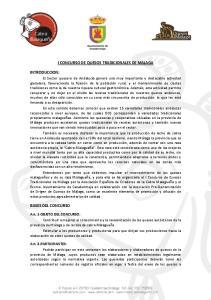 I CONCURSO DE QUESOS TRADICIONALES DE MALAGA