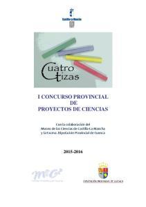 I CONCURSO PROVINCIAL DE PROYECTOS DE CIENCIAS