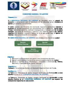 I CONGRESO NACIONAL DE AJEDREZ